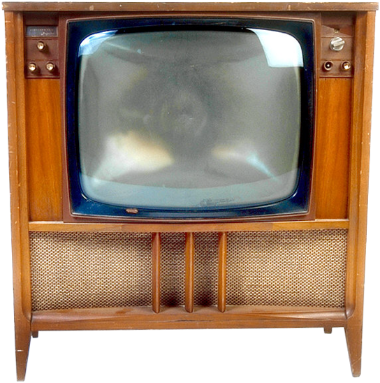Anciens televiseurs for Meuble tv en verre transparent