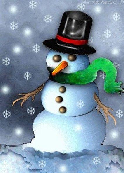 Bonhomme de neige gif centerblog - Dessin bonhomme assis ...